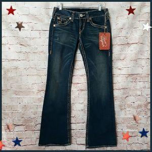 NWT True Religion Bobby Super T Dark Blue Jeans
